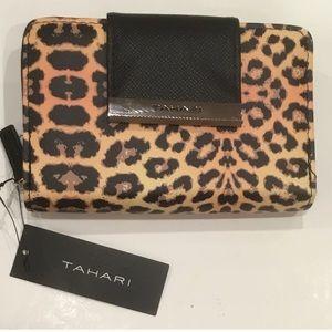 New Tahari Leopard Print Wallet